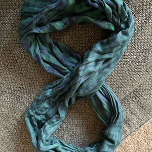 Green And Navy Infinity Scarf
